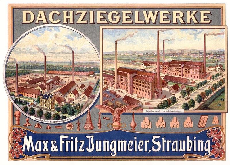 Že v 19. stoletju je Maximilian Jungmeier v Straubingu ustanovil še dve opekarni. Ilustracija iz leta 1905
