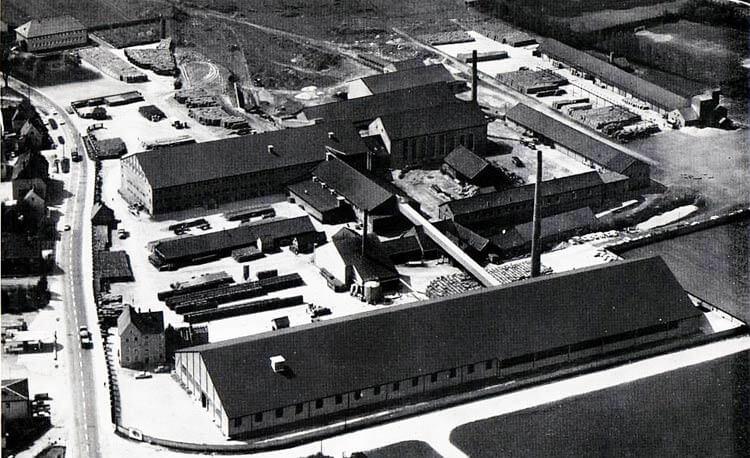 Slika tovarne Jungmeier leta 1940