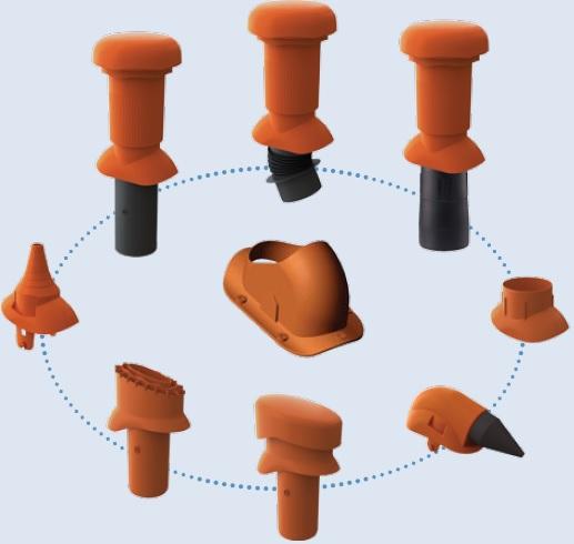 Univerzalni strešni dodatki, en nastavek za vse aplikacije, za kovinske strehe