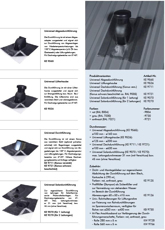 Katalog - univerzalni preboji za kovinske strehe