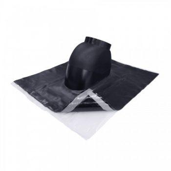 Univerzalni zračnik za kovinsko streho, dobavljiv za različne premere cevi v PP izvedbi preboja