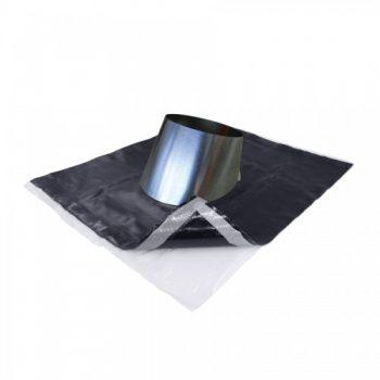 Univerzalni zračnik za kovinsko streho, dobavljiv za različne premere cevi v kovinski izvedbi preboja
