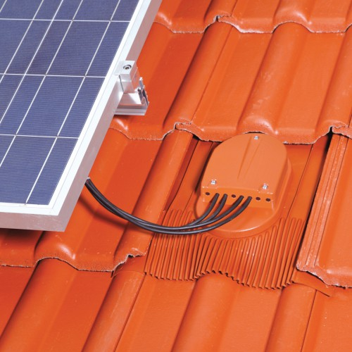 Klöber Venduct® PV strešni preboj za električne vodnike