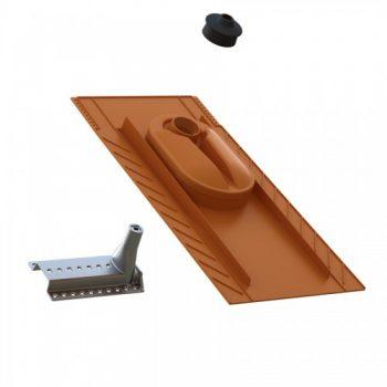Uniplus solarni nosilec in univerzalni strešni elementom za bobrovec, naravni škrilj in bitumensko skodlo