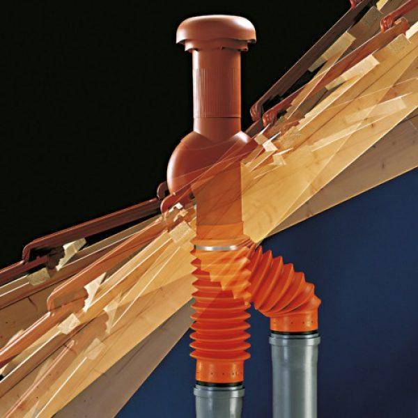 Odduhe Klöber Rovia® preprosto sestavimo brez orodja. Za naklone strehe od 20° do 50°.